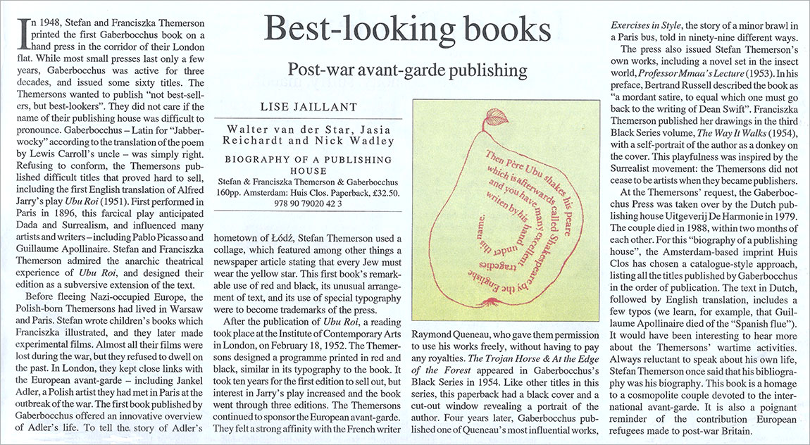 Times Literary Supplement over Gaberbocchus